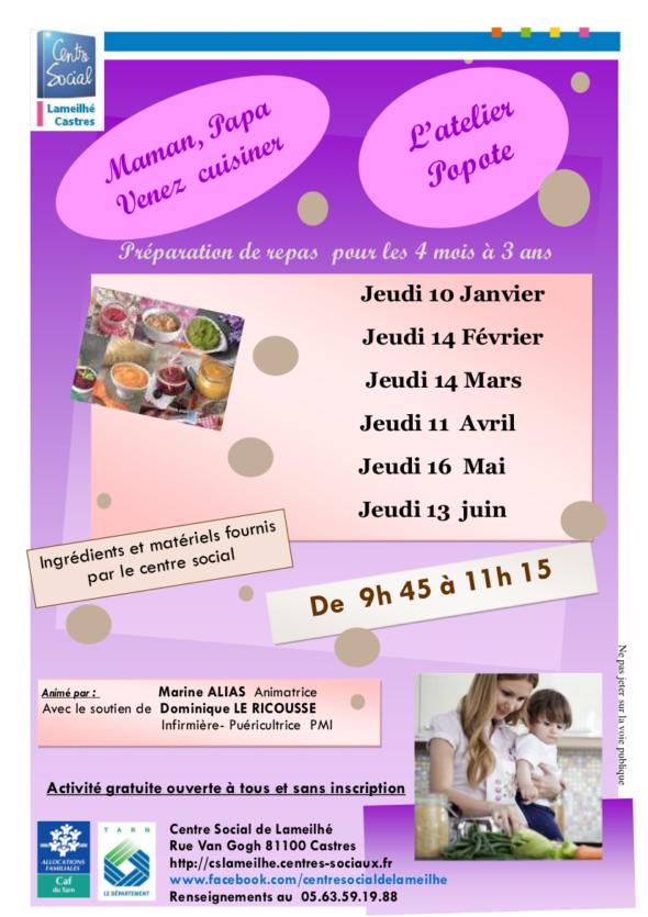 Atelier Popote Lameihe jusqu en juin