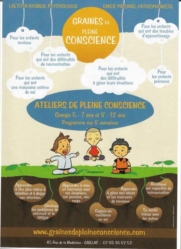 Ateliers Graines de pleine conscience Gaillac fevrier