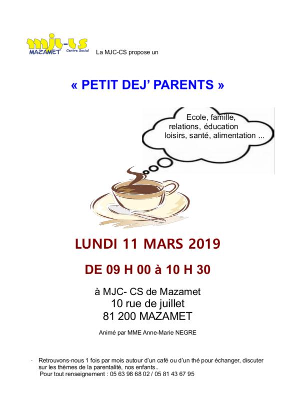 Café des parents 11 mars Mazamet