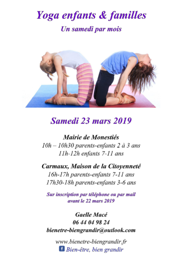 Yoga 21 mars bien etre bien grandir