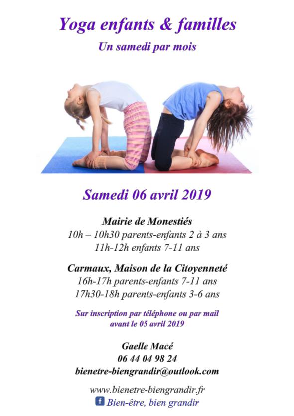 Yoga en famille 6 avril Carmaux