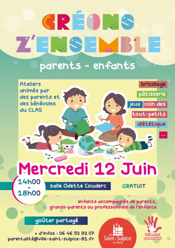 Saint Sulpice atelier parents enfants 12 juin