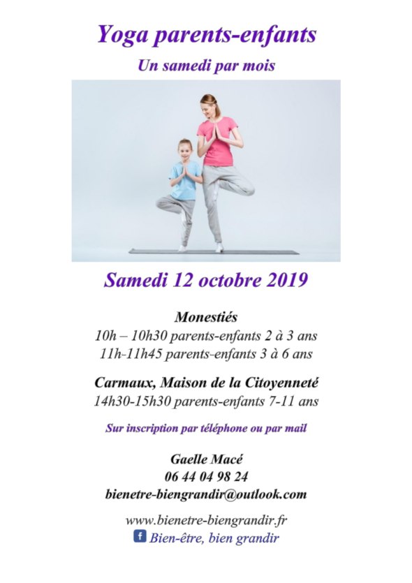 YOGA PARENTS ENFANTS 12 OCTOBRE