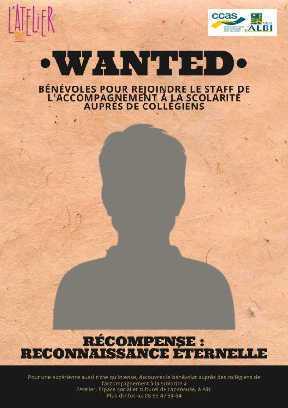 Recherche bénévoles pour CLAS Lapanouse
