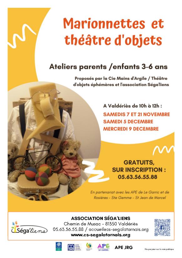 7 et 21 novembre 5 et 9 decembre valderies marionettes
