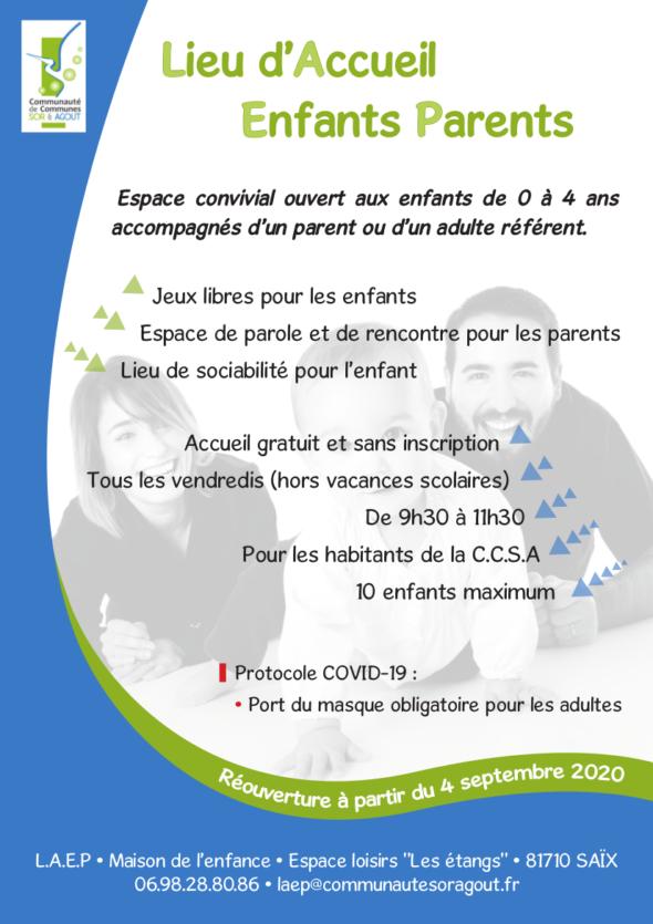 Lieu d'accueil enfants parents information
